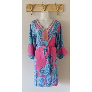 •Lilly Pulitzer• Embellished Beaded Caftan